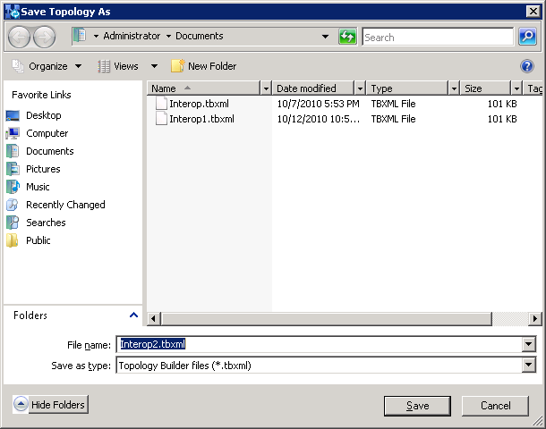 Connecting Microsoft Lync 2010 to a SIP Trunk The following screen is displayed: Figure 3-2: Topology Builder Options 2.