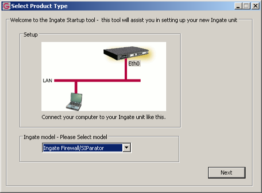 2.4 Using the InGate Start-up Tool There are three primary reasons for using the InGate Startup Tool.