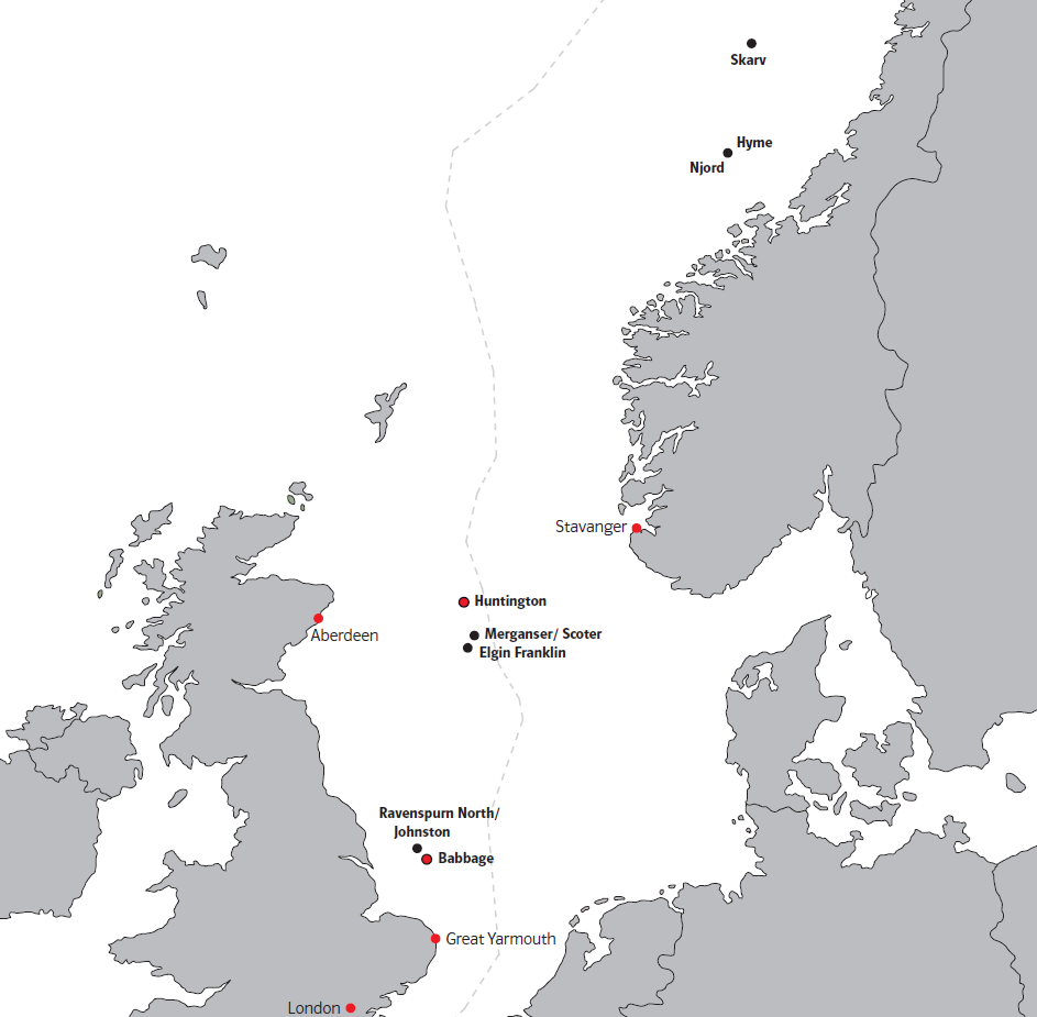 E&P North Sea Assets in operation 1 and under construction Norwegian Sea Interest in % Skarv/Idun 28 Njord 30 Hyme 17.5 Central North Sea Interest in % Elgin/Franklin 5.2 Scoter 12.0 West Franklin 5.