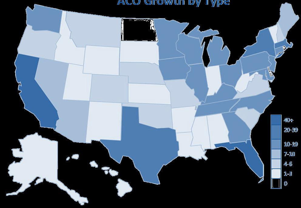 ACO development accelerating nationwide Estimated over 600 public and private ACOs in nearly every state Medicare specific ACOs: First ACOs (10 organizations) part of the PGP demonstration project