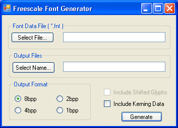 Freescale Font Encoder *.