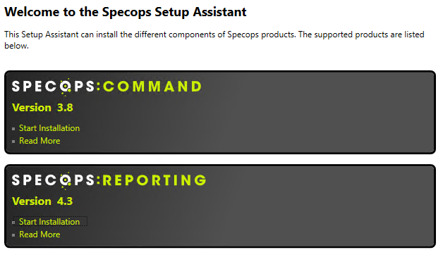 Installing Specops Command During installation, the Specops Command Setup Assistant will launch.