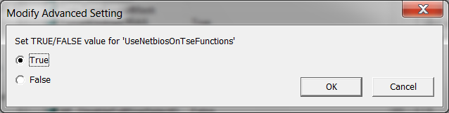 In some cases the following error message may be displayed when selecting User Properties > Terminal: This error is displayed in some environments and is caused by the Microsoft Terminal Server