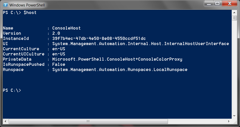 To determine the PowerShell version, the following steps can be performed: Click the Windows Start button and choose All Programs > Accessories > Windows PowerShell > Windows PowerShell.