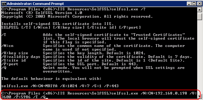 Configuring and Integrating PowerShell 25 6. Enter the following command to create a self-signed certificate. Replace the parameters with actual values, as explained below.