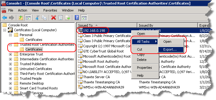 Configuring and Integrating PowerShell 31 Remoting Client/SAM Computer Configuration Import the self-signed certificate from the Remoting Server with the following steps: 1.