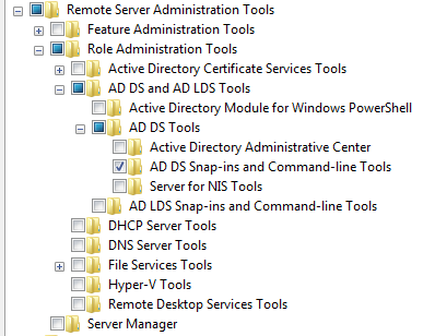 Click OK and Windows will install the Tools necessary for Active Directory management.