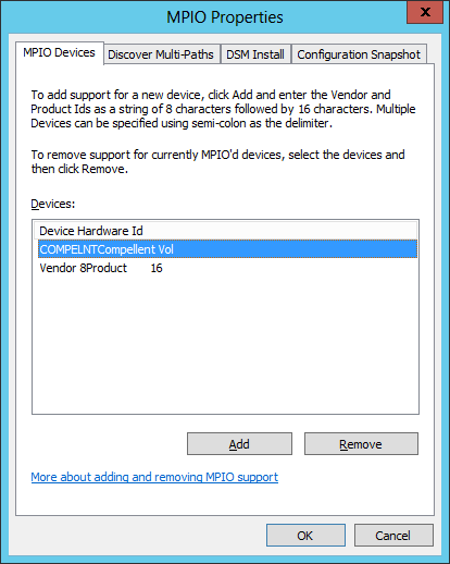 Figure 29: MPIO Device Listing 7. Click OK to close the window. 6.2.2 Using PowerShell 1. Open an elevated PowerShell window a.