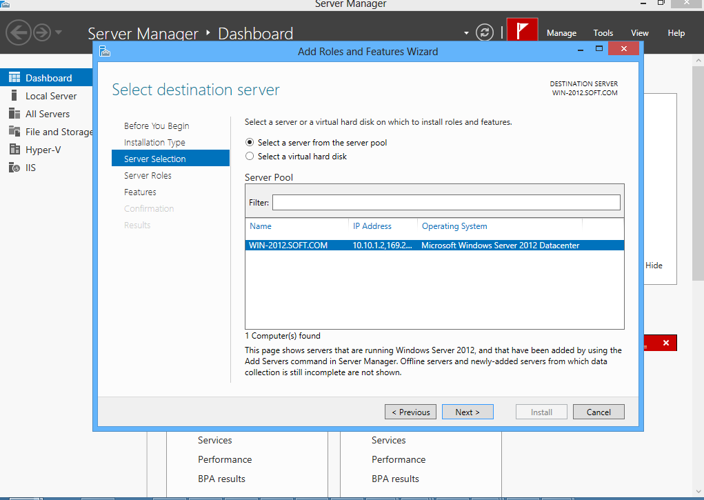 Step 3: Select Role-Based of Features-Based installation