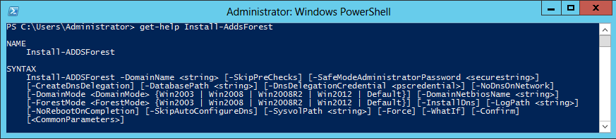 produces this warning: The dcpromo unattended operation is replaced by the ADDSDeployment module for Windows PowerShell.
