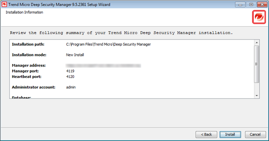 Installing the Deep Security Manager 10. Smart Protection Network: Select whether you want to enable Trend Micro Smart Feedback (recommended).