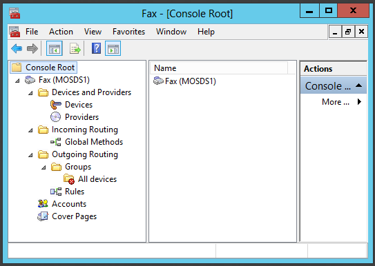 129 Figure 72: Fax Service Manager management console.