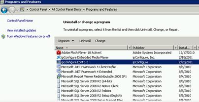 Click Control Panel Step 3: Control Panel Programs and Features Uninstall ESM 5.3 1.