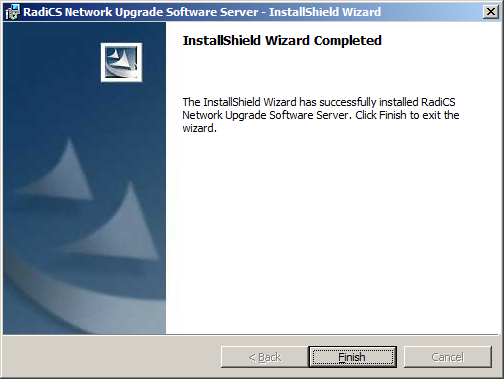 8. The InstallShield Wizard Completed screen appears.