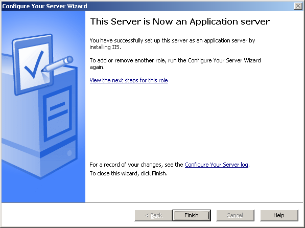 6. The Application Server Options screen appears. Select Enable ASP.NET, then click [Next]. 7. The Summary of Selections screen appears. Click [Next]. 8. The installation is started.