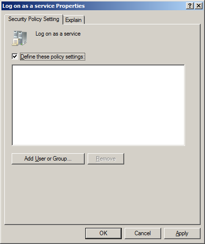 7. From the left side of the screen, select Computer Configuration - Policies - Windows Settings - Security Settings - Local Policies - User Rights Assignment. 8.