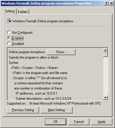 6. From the left side of the screen, select Computer Configuration - Administrative Templates - Network - Network Connections - Windows Firewall - Domain Profile. 7.