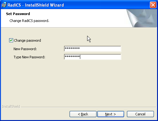 4. After restarting Windows, Open File - Security Warning screen may appear. Click [Run]. 5. The RadiCS - InstallShield Wizard screen appears. Click [Next]. 6. The License Agreement screen appears.