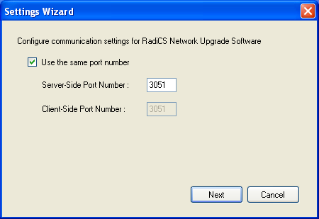 4-9. Configuring RadiCS Network Upgrade Software Procedure 1. Either continue from 4-8.