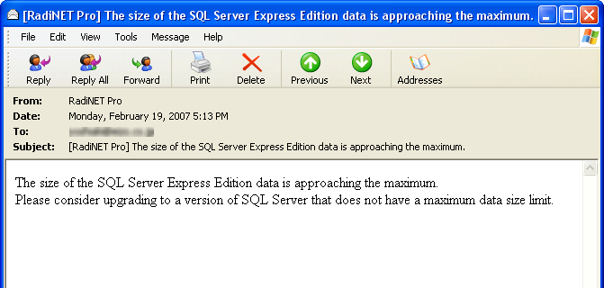Chapter 6 Precautions for use SQL Server 2005/2008/2008 R2 Express Edition In SQL Server 2005/2008/2008 R2 Express Edition, the database size is limited.