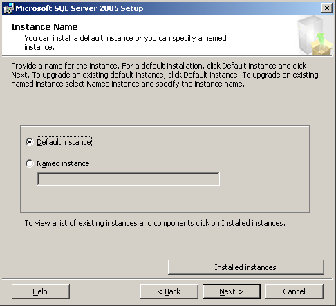 14. The Change Folders screen appears. Specify the storage location set when SQL Server 2005 Express Edition was installed. Click [OK].