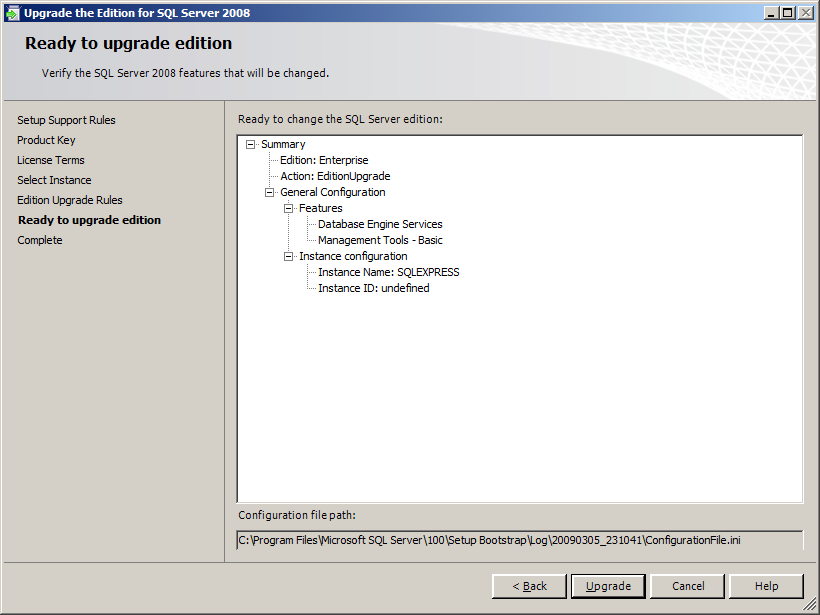 10. The Edition Upgrade Rules screen appears. Click [Next]. 11. The Ready to upgrade edition screen appears.
