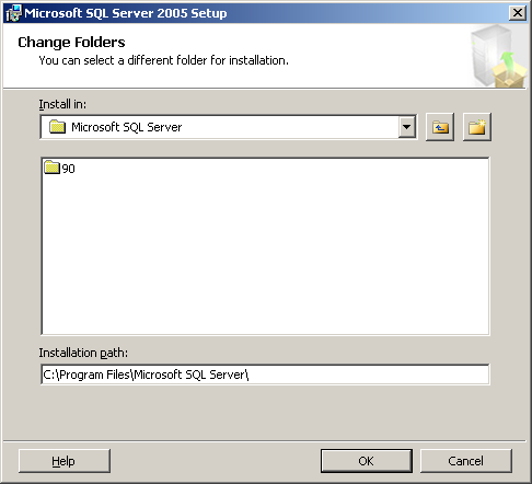 12. Select Database Services - Data Files and then click [Browse ] of Installation path. 13. The Change Folders screen appears.