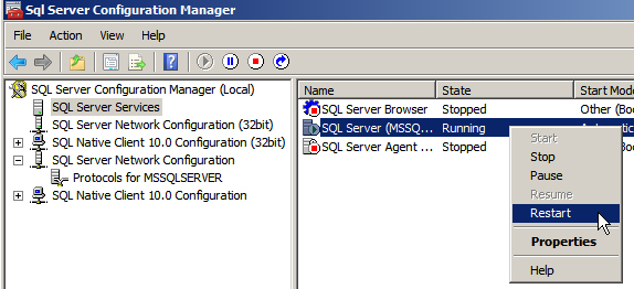 The setting of SQL Server 2008 R2 Express Edition After installing the 32-bit version, refer to the SQL Server 2008 Express Edition setting. Procedure 1.