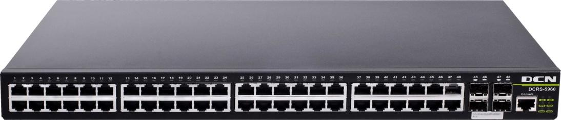 DCRS-5960 Dual Stack 10G Routing Switch Datasheet DCRS-5960-28T-R/28T-DC/28T-POE DCRS-5960-52T-R/52T-DC/52T-POE Product Overview The DCRS-5960 series is a Gigabit Ethernet Layer 3 switch with 20/44