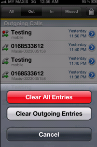 Using BizVoice for iphone Call History Tap the History icon at the button of the screen Tap to filter, as desire Clearing the History Tap