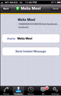 Sending an Instant Messaging You can send an instant messaging to your buddy who is online.