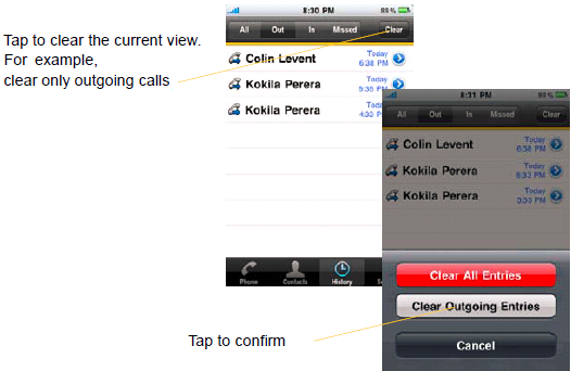 Using BizVoice for iphone Accessing Voicemail If your VoIP service provider provides a voicemail service, then incoming calls go to voicemail if : - Bria is not running - When you have one calls