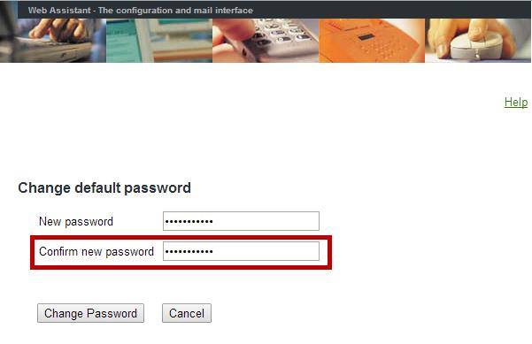 7. Re-enter the password you just created into the Confirm new password field. 8.