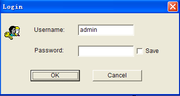 Figure 4 Login window Enter user name and password into the login window, click [OK], the main interface of NVSCenter appears as
