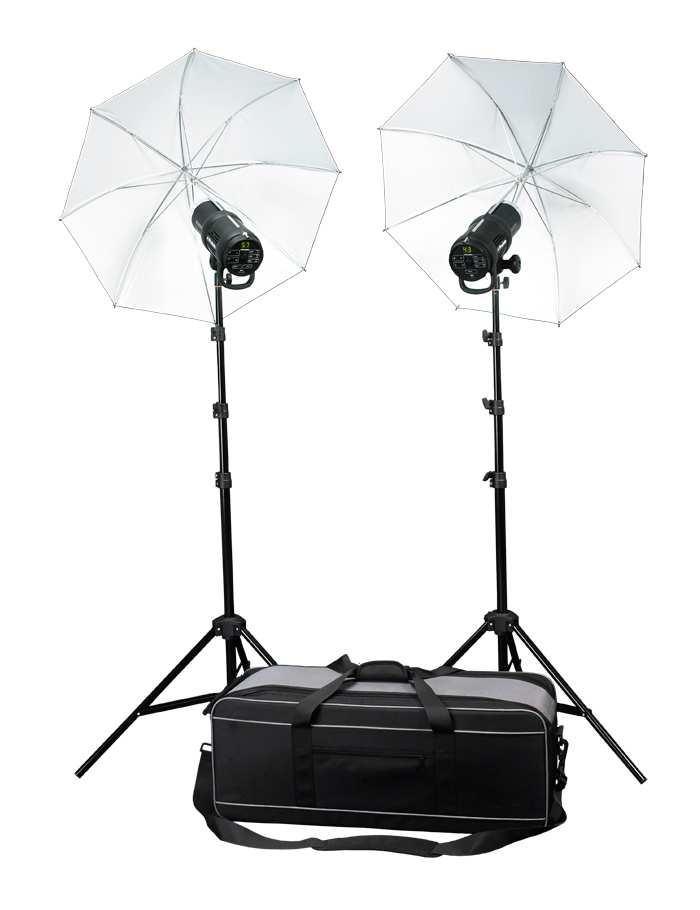 D1 Studio kit, incl 2 x D1's, bag, 2 x stands and 2 x umbrellas 901052 D1 Studio Kit 500/500 (incl. synchro cable) 2.046,00 901053 D1 Studio Kit 500/500 Air (incl. Air Remote) 2.