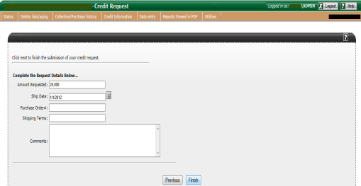 How to request a customer credit line We pre-approved credit lines for your customers.