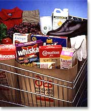 Smart groceries Add an RFID tag to all items in the grocery.