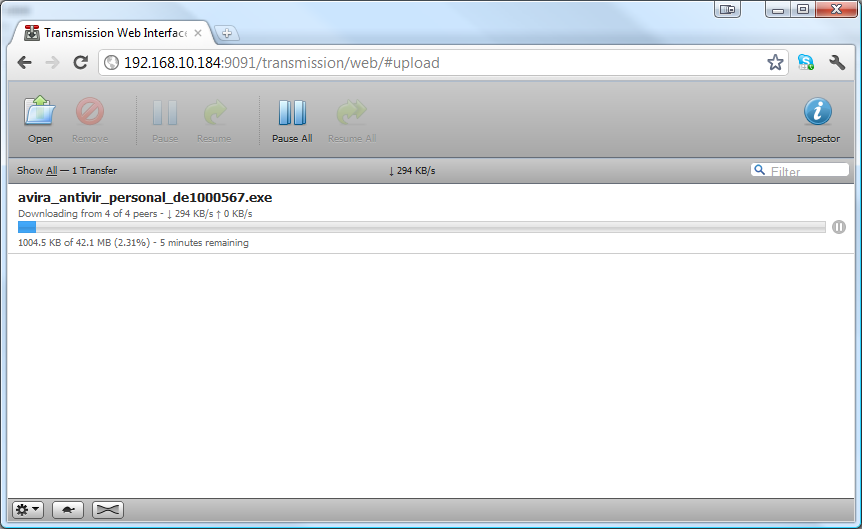 - Click Browse to upload a torrent file, and click upload to confirm. 3. 9.2.