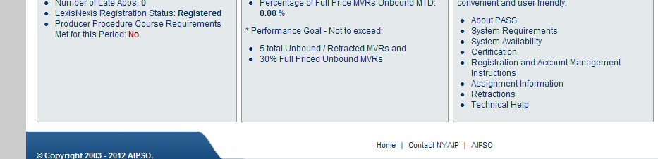 PASS Unbound MVRs On the PASS Welcome page, the Plan Provides Alerts to Unbound MVR Performance.