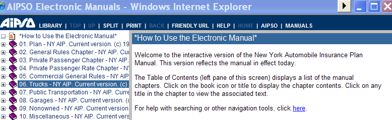 Electronic Manuals The left margin displays links, with sub-chapters wherever a (+)is displayed.