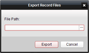 2. Select the camera(s), file type, and the start time and end time of the file. 3. Click Search to search the recorded files which have been backed up on local disk (s).