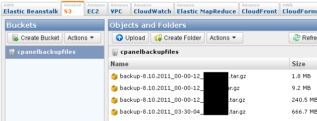 After backup files uploaded to amazon s3 account, the original backup files in your server will be deleted.