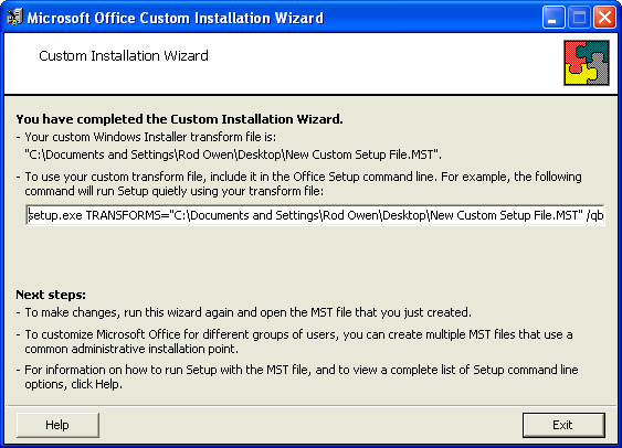 Chapter 5: Installing Dragon using the Windows installer (MSI) 20. Continue adding or modifying other MSI options that apply for your environment. Once you are done, click Next. 21.