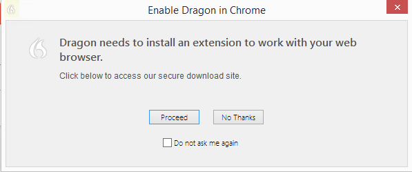 Dragon NaturallySpeaking 13 Administrator Guide 3. Click the Install web extension button, and then follow the instructions on the screen to install the web extension. 4.