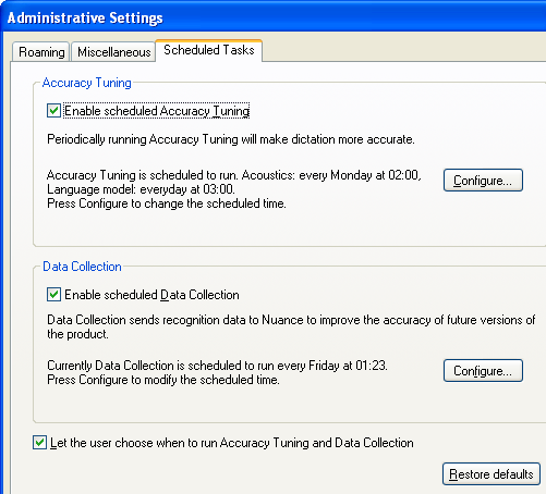 Dragon NaturallySpeaking 13 Administrator Guide For more information, see the Dragon Help file.