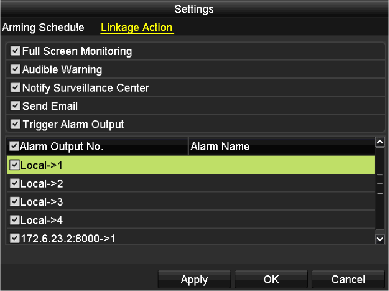 11.4 Configuring Video Quality Diagnostics Purpose: When the video quality is diagnosed abnormal (e.g., blurred image, abnormal brightness and color cast), the alarm will be triggered and linked with the configured response actions 1.