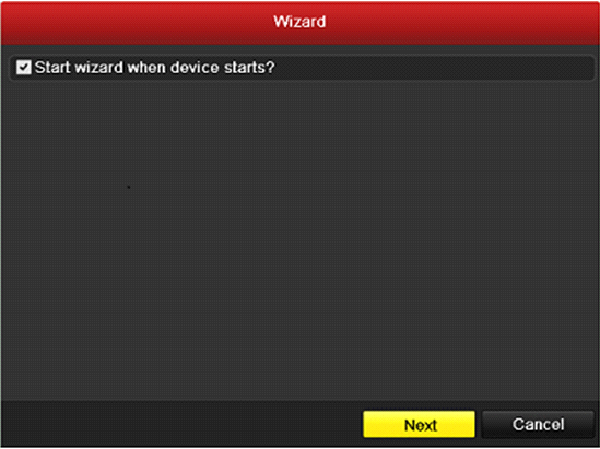 2.1 Using the Wizard for Basic Configuration The Setup Wizard can walk you through some important settings of the device. By default, the Setup Wizard starts once the device has loaded.