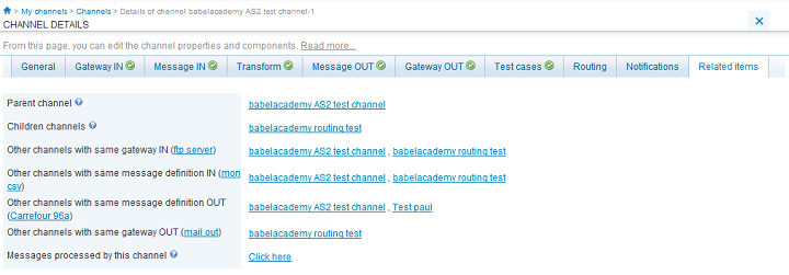The routing allows you to define which channel must process a message, when multiple channels use the same gateway in.