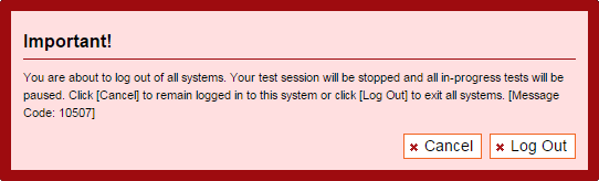 Accessing the ORS Logging Off the ORS Figure 4. Logoff warning message 2. Select the [Log Out] button in the lower right-hand corner of the warning message.