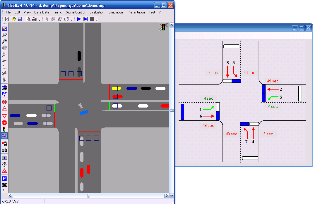 Figure 3.14: Hardware-in-the-loop Implementation with VISSIM. 3.5 Sample Data SMART-SIGNAL has been installed on 11 intersections of France Avenue in Hennepin County, Minnesota since February 2007.
